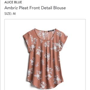 Alice blue top- new with tags